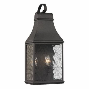 Forged Jefferson 2-Light Outdoor Wall Lantern
