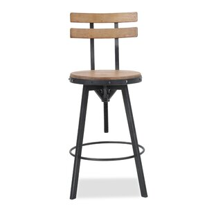 Gloria Adjustable Height Swivel Bar Stool by Laurel Foundry Modern Farmhouse Price