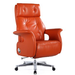 Felica Genuine Leather Executive Chair by Latitude Run