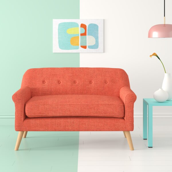 Excellent Cal Mid Century Loveseat Wayfair Gmtry Best Dining Table And Chair Ideas Images Gmtryco