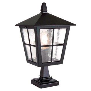 Charlton Home Poppe Pedestal Post Light