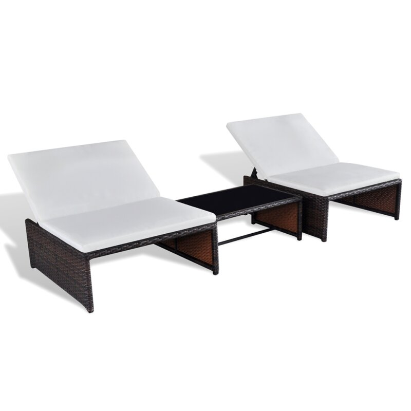 dcor design 3 tlg lounge set mit kissen und tisch bewertungen. Black Bedroom Furniture Sets. Home Design Ideas