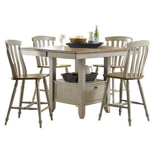 Liberty Furniture 5-Piece Savannah Dining Set in Taupe & Driftwood