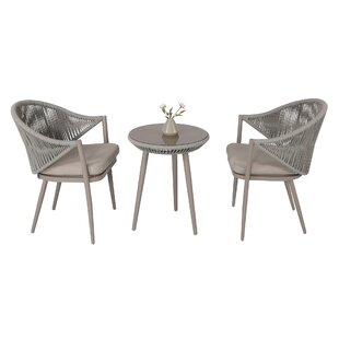 Ringold 3 Piece Bistro Set with Cushions
