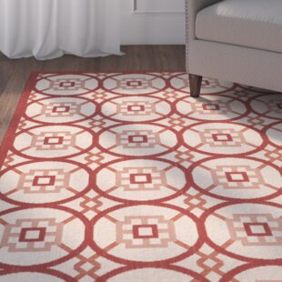 Caboose Beige/Red Indoor/Outdoor Area Rug