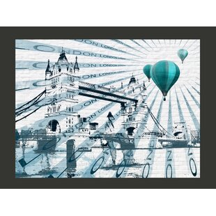Hot Air Balloon over Tower Bridge 1.54m x 200cm Wallpaper