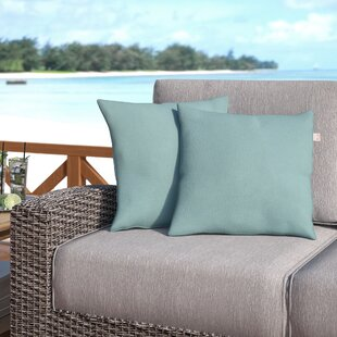 Livia Spa Outdoor Sunbrella Throw Pillow (Set Of 2) by Longshore Tides Best Choices