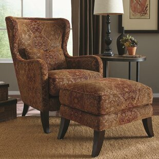 World Menagerie Darian Wing Armchair and Ottoman