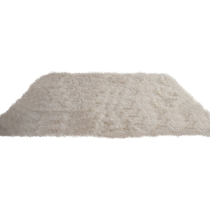 Flokati Handwoven Wool Natural Rug