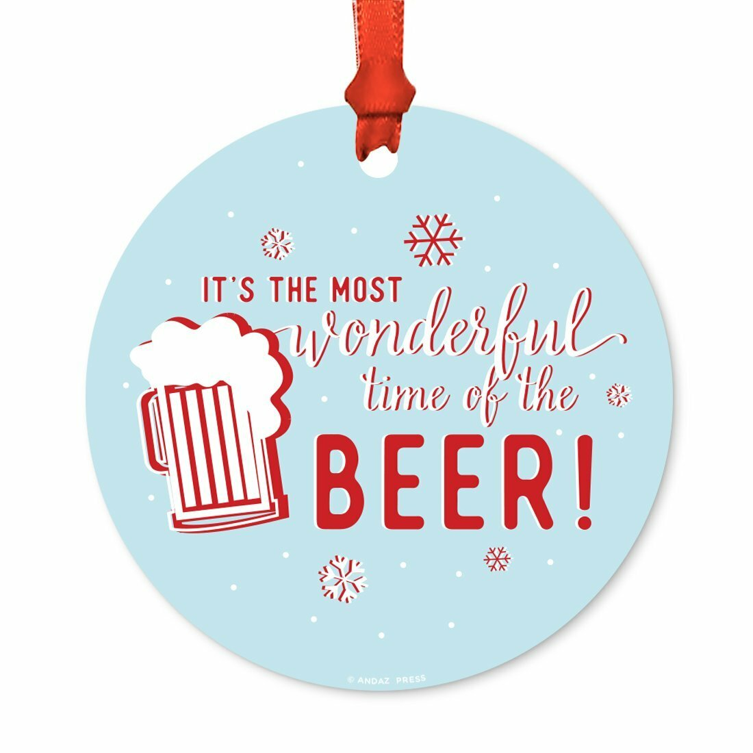 The Holiday Aisle It S The Most Wonderful Time Of The Beer Ball Ornament Wayfair