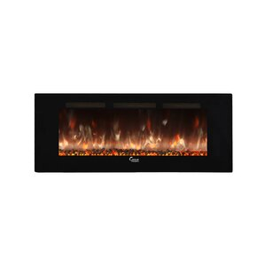 Brentwood Linear Wall Mount Electric Fireplace by Brayden Studio