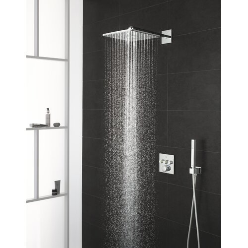 Thermostatic Shower with Fixed Shower Head Grohe Chrome