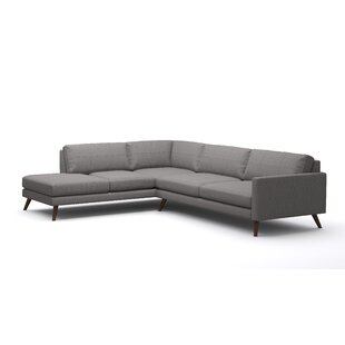 Bargain Dane Corner Sectional with Bumper by TrueModern Reviews (2019) & Buyer's Guide