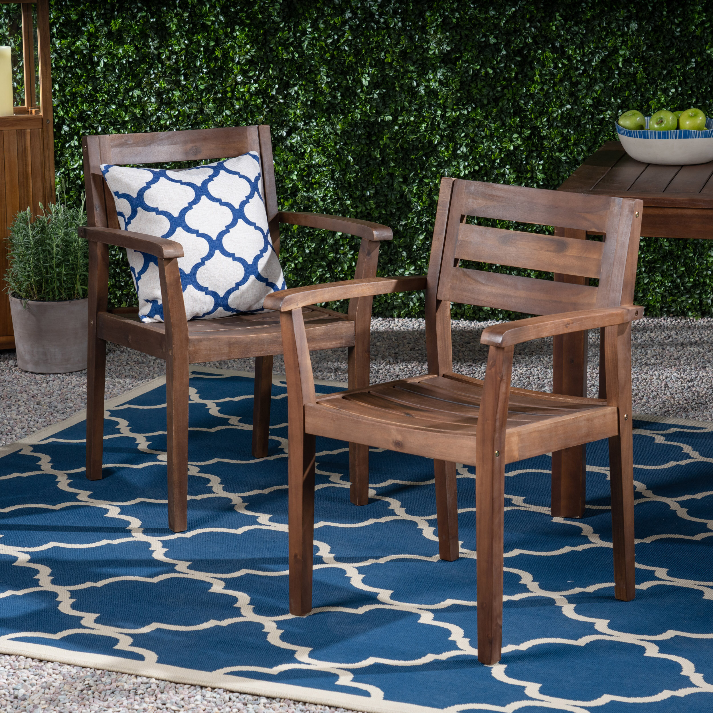 Outdoor Rustic Patio Dining Chair