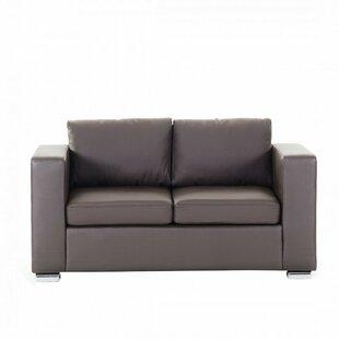 Enya Leather 2 Seater Loveseat