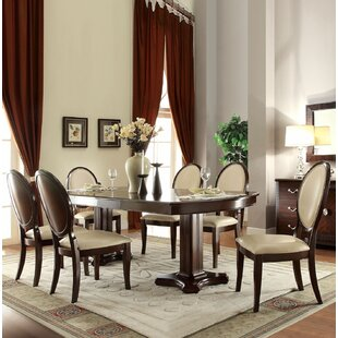 Rank 7 Pieces Extendable Dining Set Canora Grey