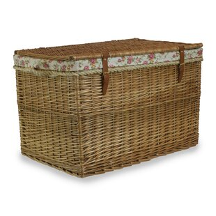 Jamel Hamper Trunk With Garden Rose Lining By August Grove