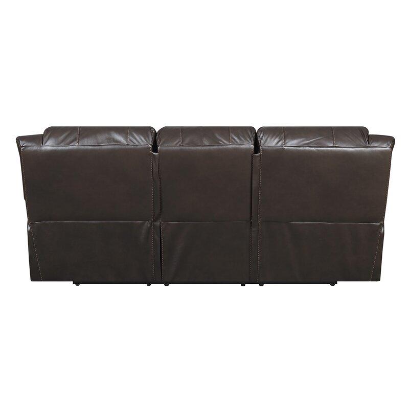 Darby Home Co Everardo Leather Reclining Sofa & Reviews   Wayfair