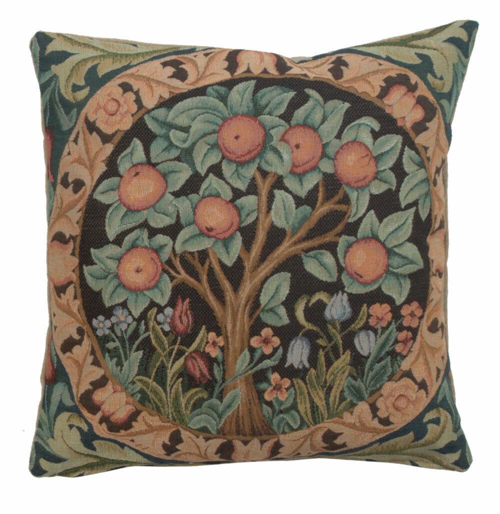 August Grove Jaziel Orange Tree I European Cotton Throw Pillow Cover Wayfair