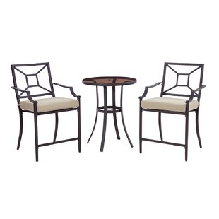 Laredo 3 Piece Bar Height Dining Set
