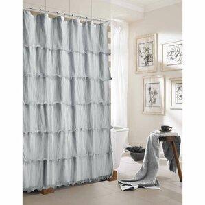 lavardin ruffled shower curtain