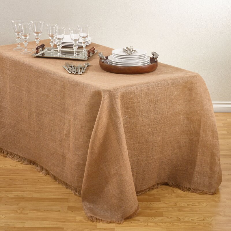 Lyndalia Burlap Tablecloth