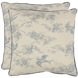 Norah Cotton Toile Throw Pillow (Set of 2)