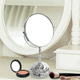 Read Reviews Do Round Double Sided Magnifying Standing Makeup/Shaving Mirror By Charlton Home