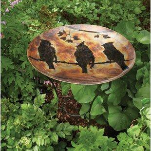 Millwood Pines Kendall Waxwing Flamed Birdbath