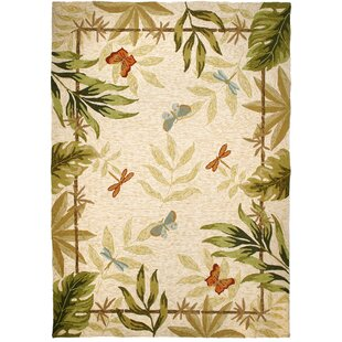Harrow Hand-Hooked Beige Indoor/Outdoor Area Rug