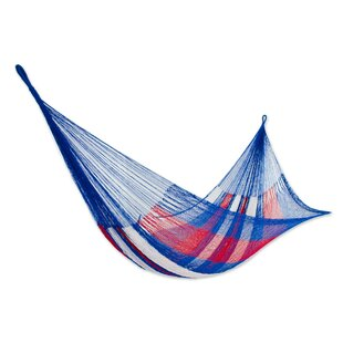 Novica Patriotic Rope Double Nylon Tree Hammock