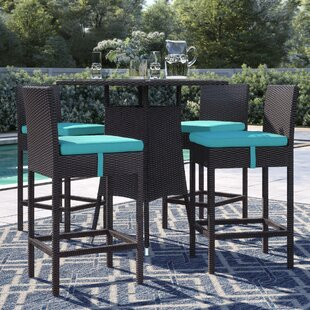 Brentwood 5 Piece Bar Height Dining Set with Cushions