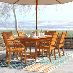 Beachcrest Home Frye Maryland 7 Piece Dining Set