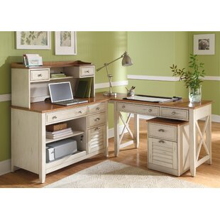 Beachcrest Home Bridgeview 5-Piece Standard Desk Office Suite