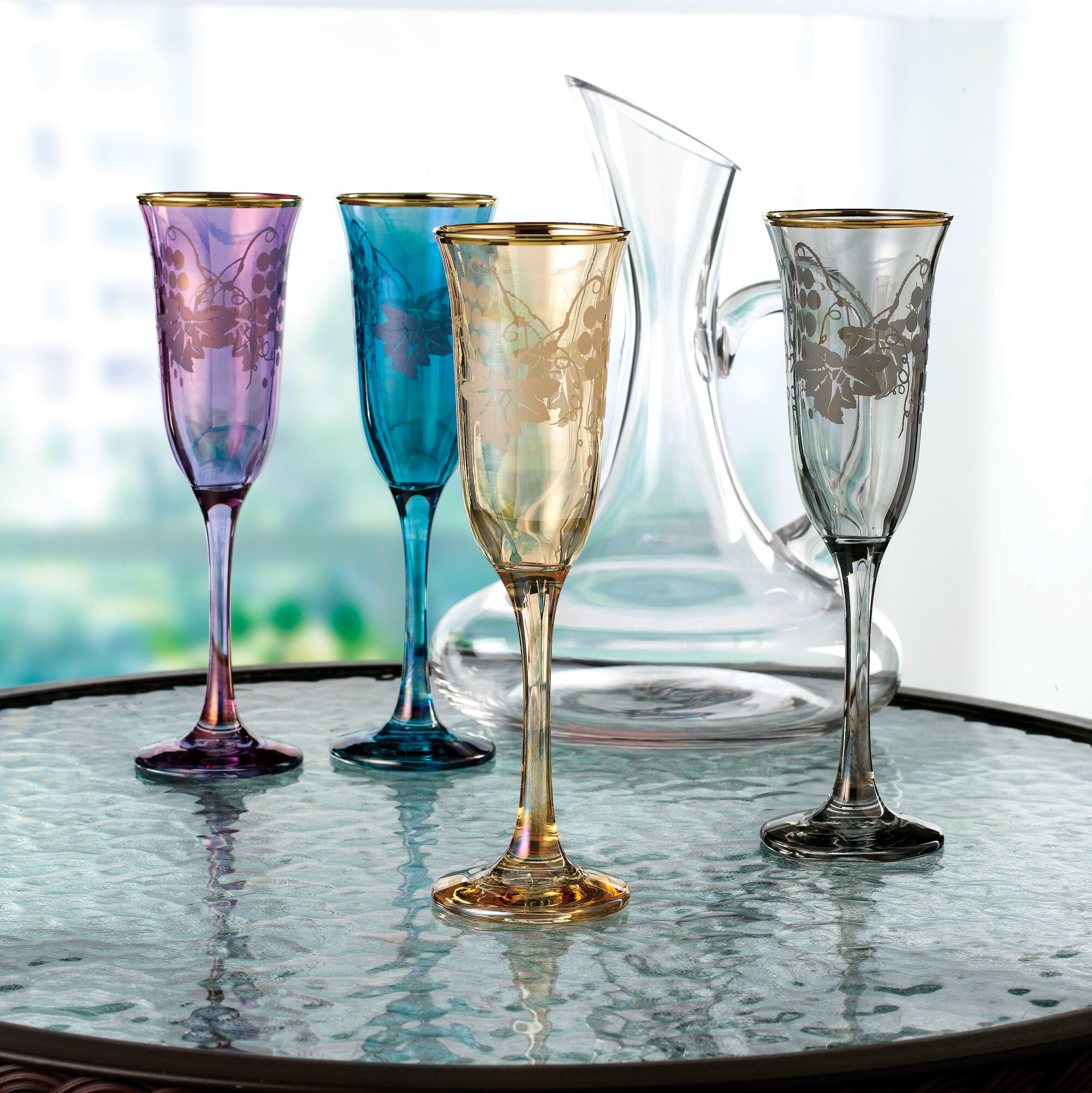 Blue Champagne Glasses Drinkware You Ll Love In 2021 Wayfair