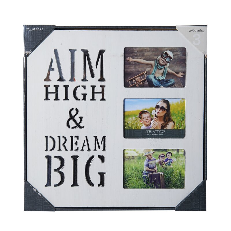 Melannco 3 Opening Wood Photo Collage Picture Frame & Reviews | Wayfair