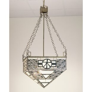 Meyda Tiffany Mission 4-Light Bowl Pendant