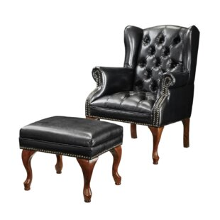 Anke Wingback Chair and Ottoman by Darby Home Co