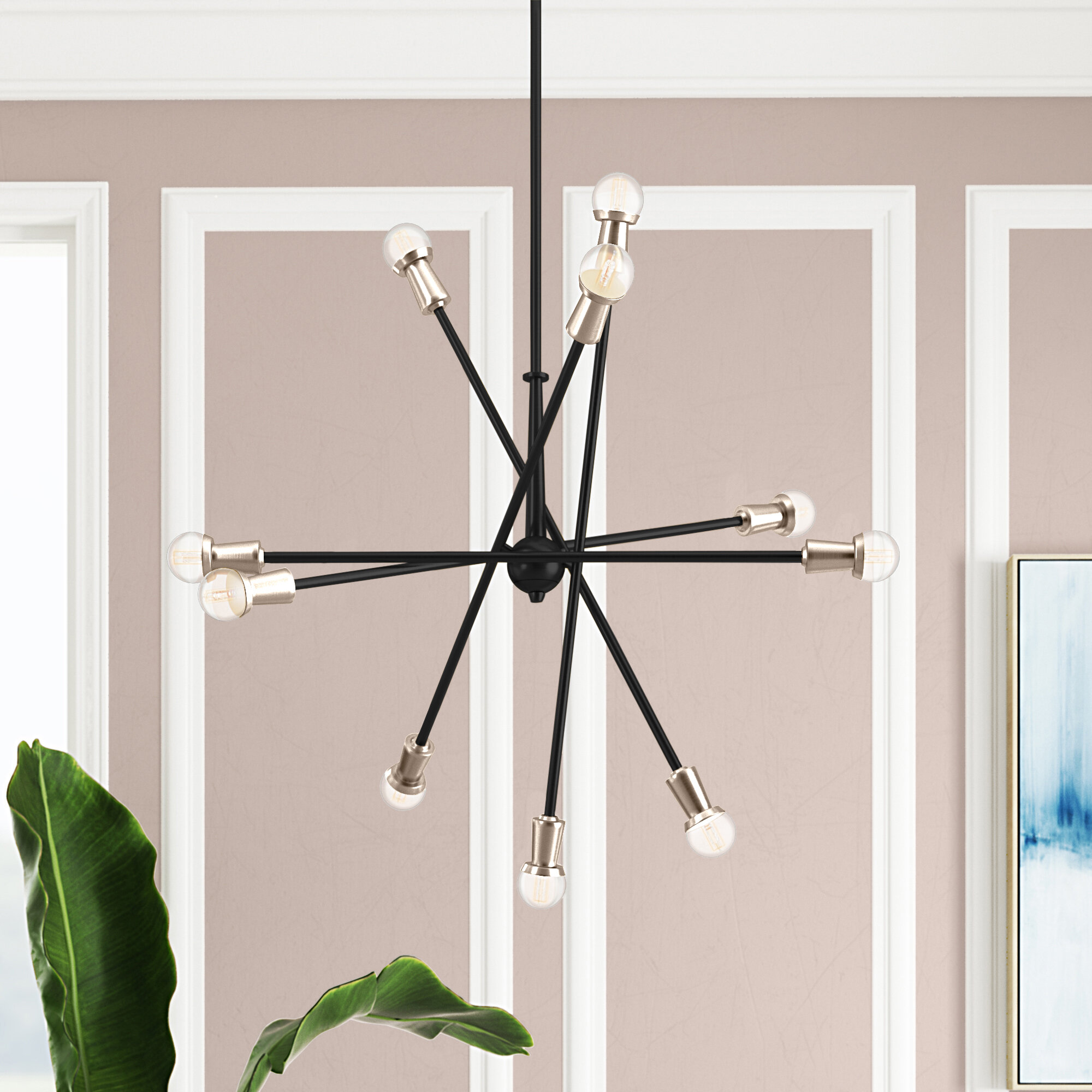Coburn 10 Light Sputnik Modern Linear Chandelier Joss Main