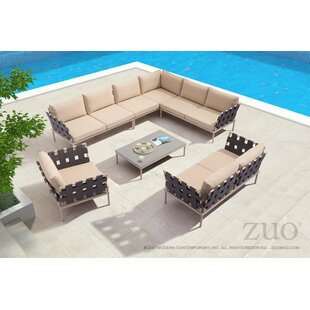 Brayden Studio Cianciolo 4 Piece Sectional Seating Group with Cushions