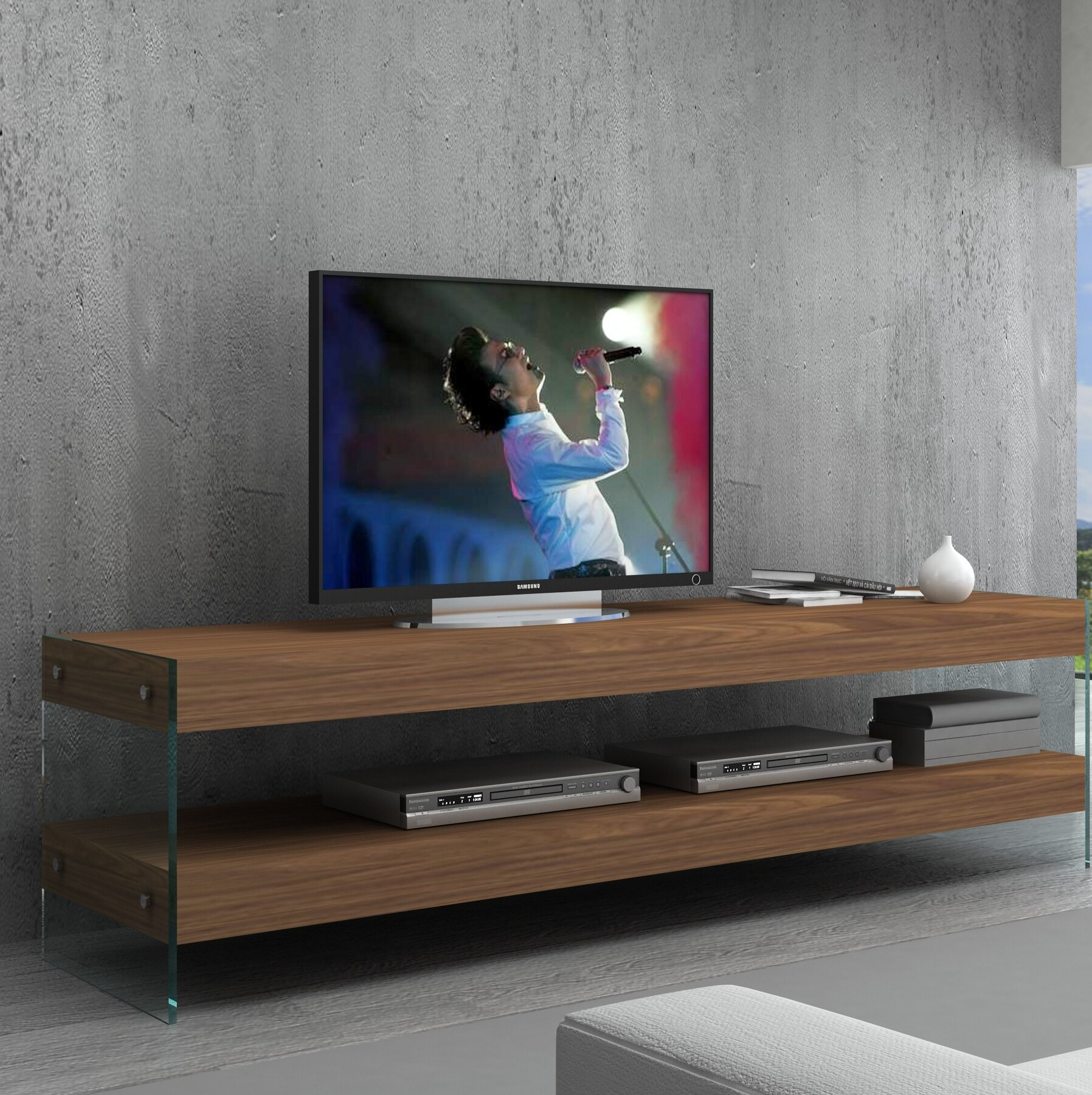 Brayden Studio Akbez Tv Stand For Tvs Up To 65 Reviews Wayfair