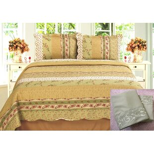 Melani 7 Piece Reversible Quilt Set
