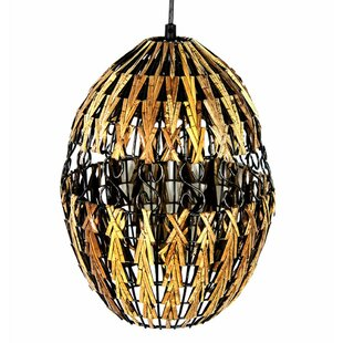 World Menagerie Decorative Hanging Rattan Lantern