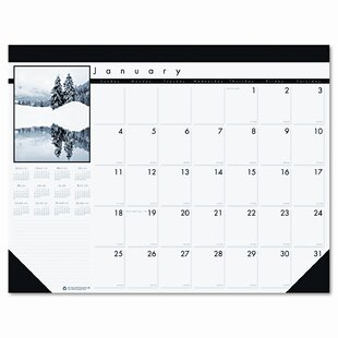 House of Doolittle Photo Monthly Desk Pad Calendar