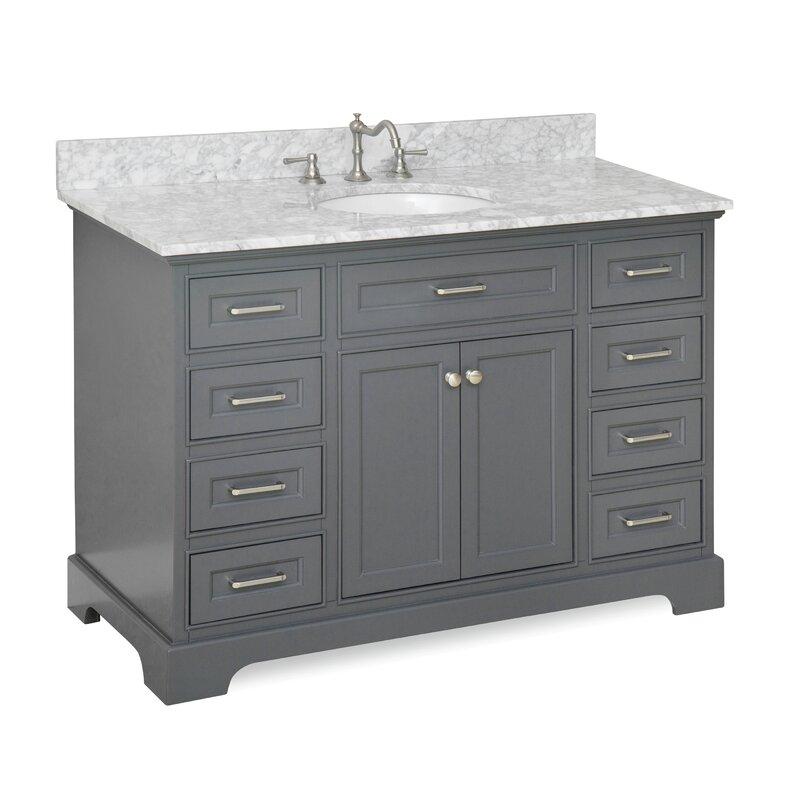 undermount ca with alabaster top poplar x in allen vanities vanity bathroom single roth engineered stone sink
