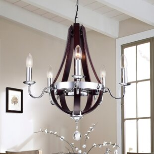 Gracie Oaks Kyrsten 5-Light Empire Chandelier