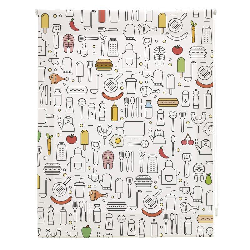 Ebern Designs Kitchen Colors Sheer Roller Blind | Wayfair ...