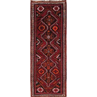 One Of A Kind Stecker Persian Hand Knotted Runner 2 11 X 7 Wool Red Area Rug