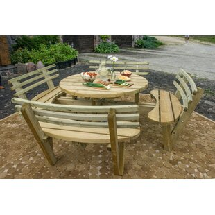 Jacquelyn Wooden Picnic Bench Image