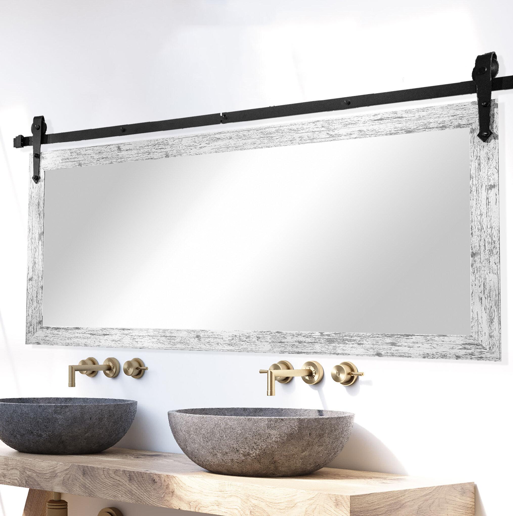 Laurel Foundry Modern Farmhouse Abraham Horizontal Barn Bathroom Vanity Mirror Reviews Wayfair